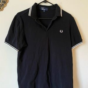 Fred Perry Black Men's Striped Polo